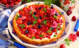 Запеканка с ягодами в мультиварке