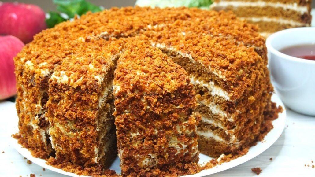 Торт медовик в мультиварке