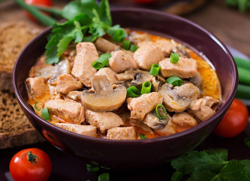 Мясо с грибами в мультиварке рецепты